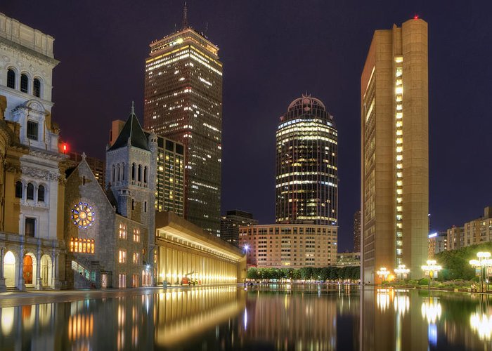 Boston Greeting Card featuring the photograph Christian Science Center-boston by Joann Vitali