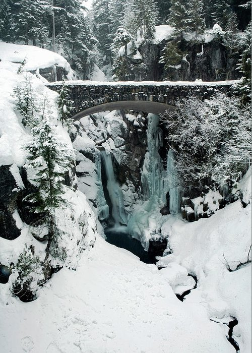 America Greeting Card featuring the photograph Christine Falls, Mount Rainier National by Tom Norring