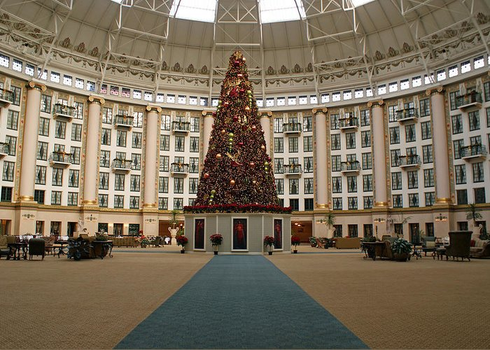 Holiday Greeting Card featuring the photograph Christmas At West Baden by Sandy Keeton