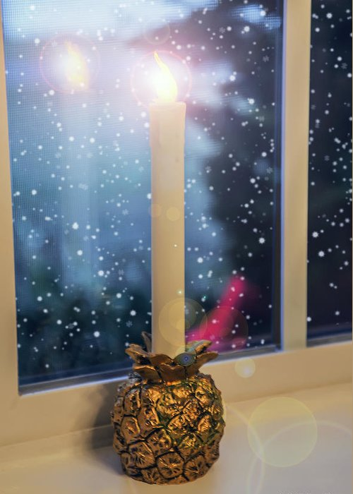 2d Greeting Card featuring the photograph Christmas Candle by Brian Wallace
