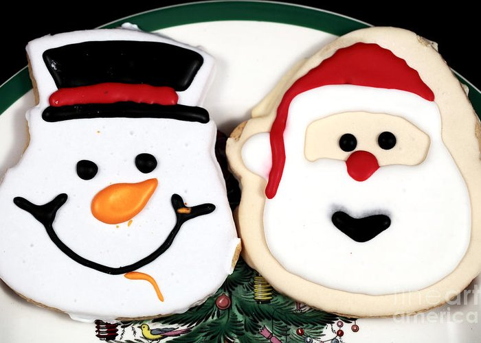 Christmas Cookies Greeting Card featuring the photograph Christmas Cookies by John Rizzuto