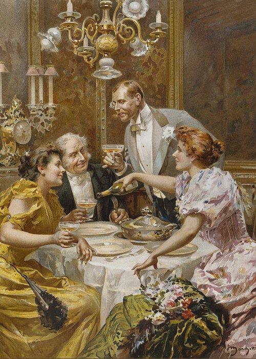 High Society Drawings Greeting Cards