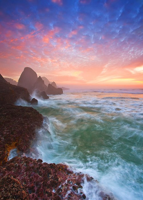 Oregon Greeting Card featuring the photograph Christmas Eve Sunset by Darren White