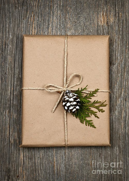 Package Greeting Card featuring the photograph Christmas Present by Elena Elisseeva