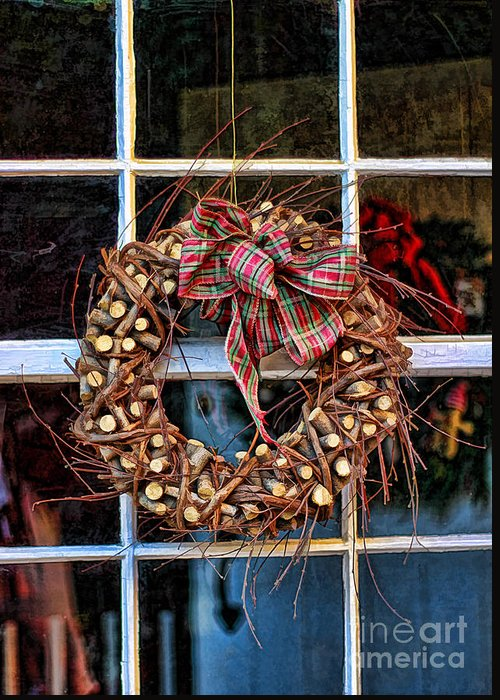 Accessories Greeting Card featuring the photograph Christmas Wreath by Darren Fisher