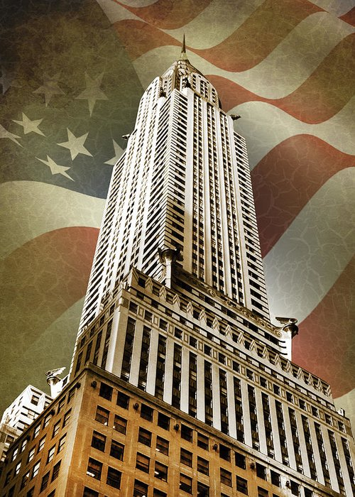 Chrysler Building Greeting Card featuring the photograph Chrysler Building by Mark Rogan