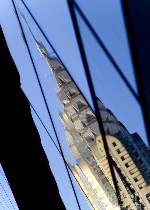 Chrysler Greeting Card featuring the photograph Chrysler Building by Tony Cordoza