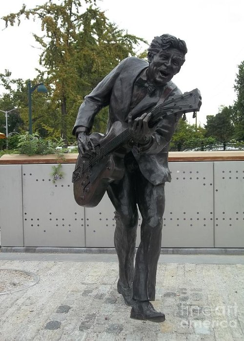 Greeting Card featuring the photograph Chuck Berry by Kelly Awad