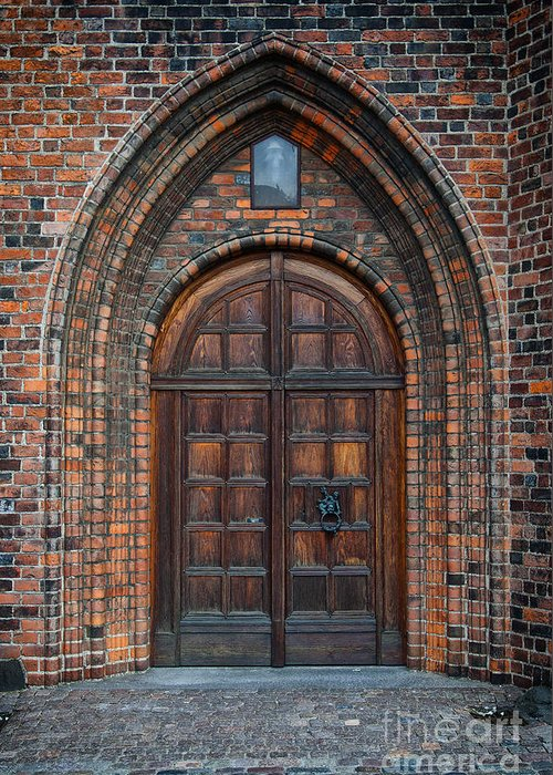 Entrance Greeting Card featuring the photograph Church Door by Antony McAulay
