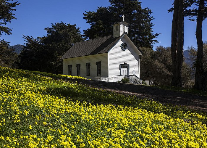 Church Greeting Card featuring the photograph Church In The Clover by Garry Gay