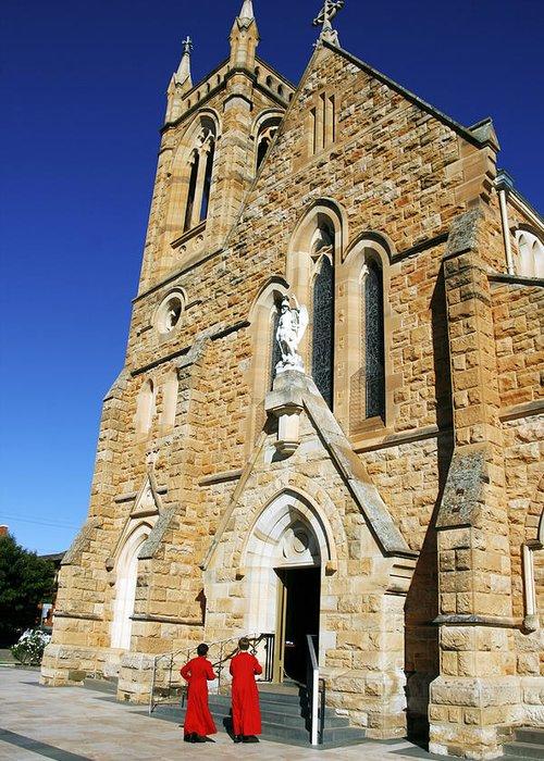 Church Greeting Card featuring the photograph Church Mass by Jason Hughes