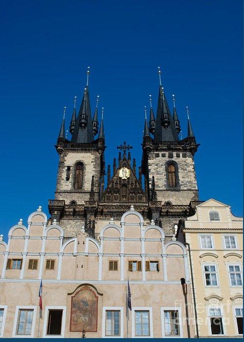 Church Of Lady Before Tyn Greeting Card featuring the photograph Church Of Lady Before Tyn by Sarka Olehlova