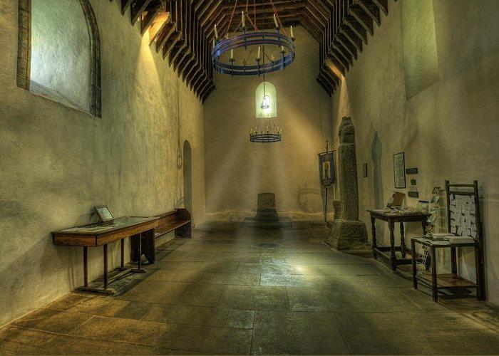 Church Greeting Card featuring the photograph Church Of St Seiriol by Ian Mitchell