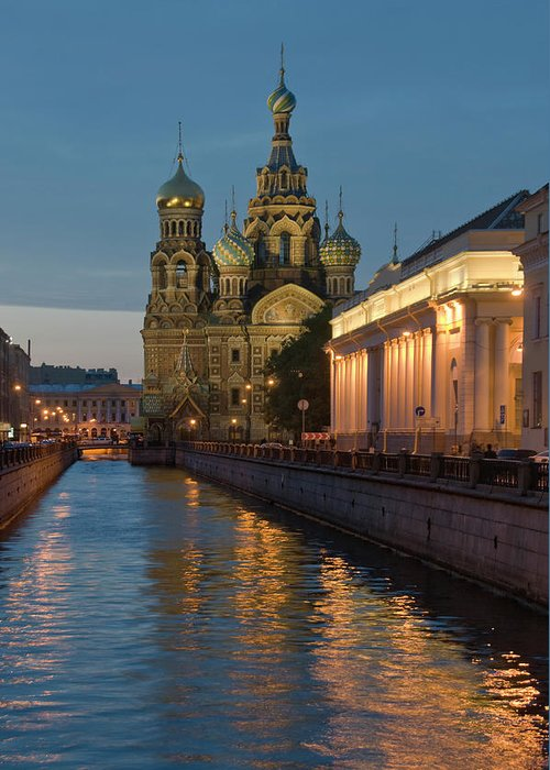 Built Structure Greeting Card featuring the photograph Church Of The Saviour On Spilled Blood by Izzet Keribar