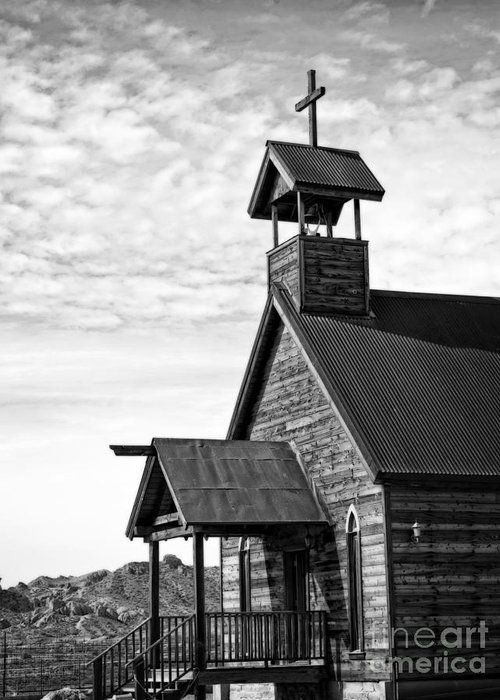 Photography Greeting Card featuring the photograph Church On The Mount In Black And White by Lee Craig