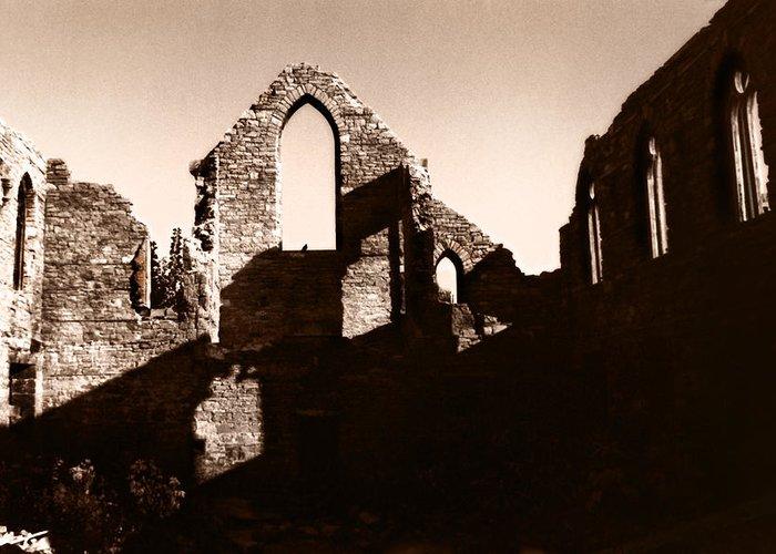 Church Greeting Card featuring the photograph Church Ruins by Trachenberg Trachenberg