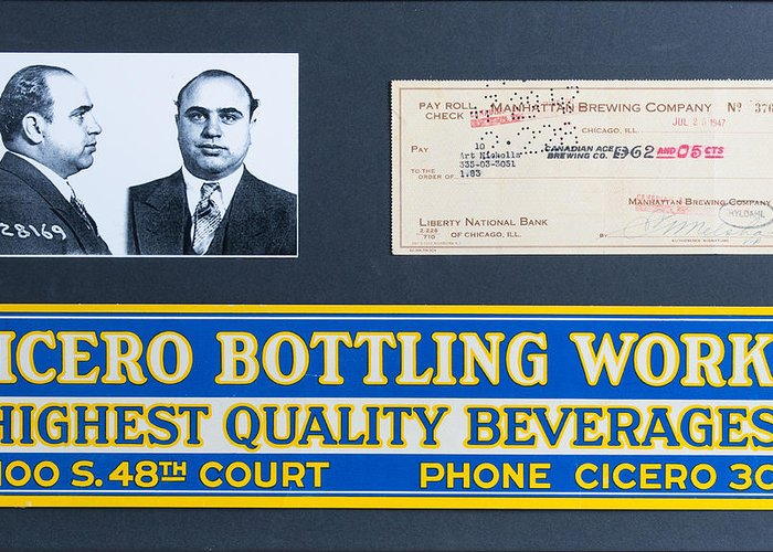 Capone Greeting Card featuring the painting Cicero Bottling Works Chicago Brewing by Kurt Olson