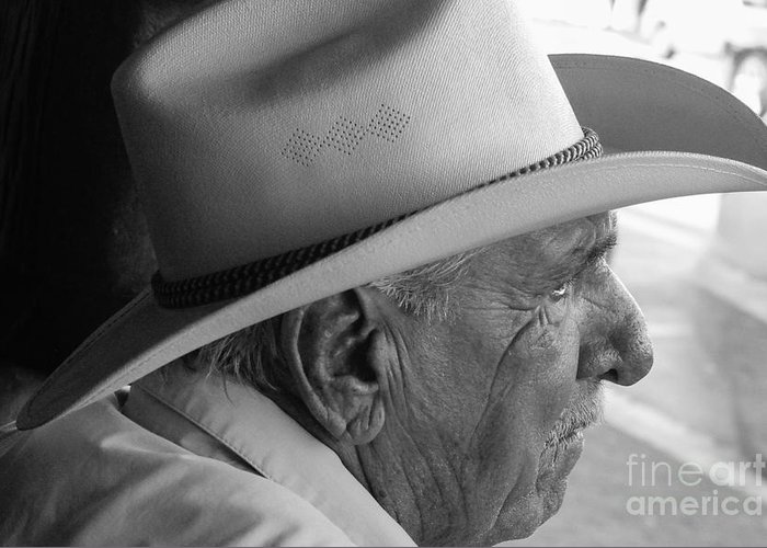 Old Man Greeting Card featuring the photograph Cigar Maker Remembering His Past by Rene Triay Photography