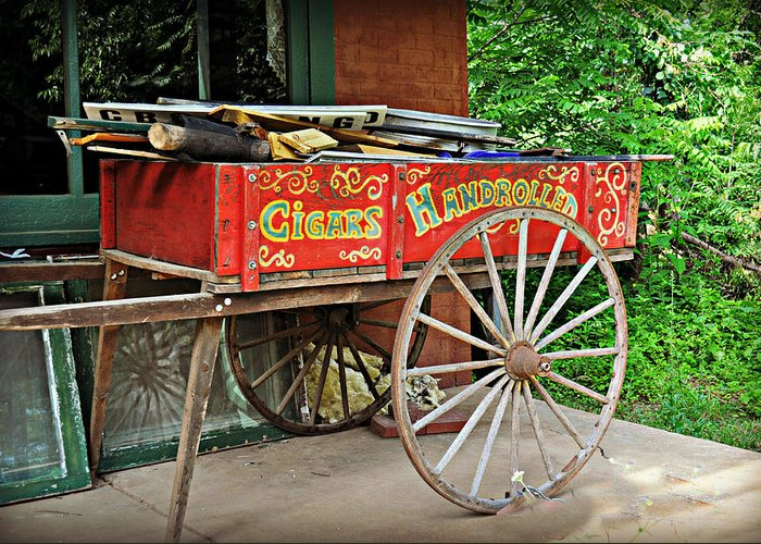 Historic Greeting Card featuring the photograph Cigar Wagon by Marty Koch