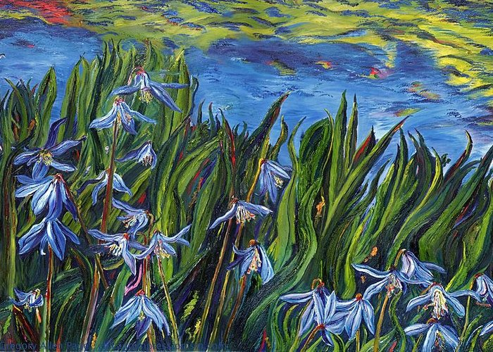 Flowers Greeting Card featuring the painting Cilia Flowers by Gregory Allen Page