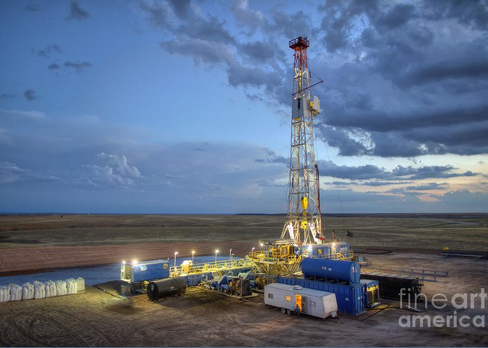 Oil Rig Greeting Card featuring the photograph Cim001-23 by Cooper Ross