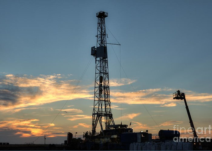 Oil Rig Greeting Card featuring the photograph Cim001-26 by Cooper Ross