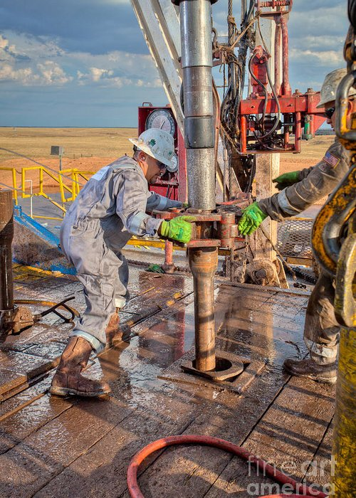 Oil Rig Greeting Card featuring the photograph Cim001-9 by Cooper Ross