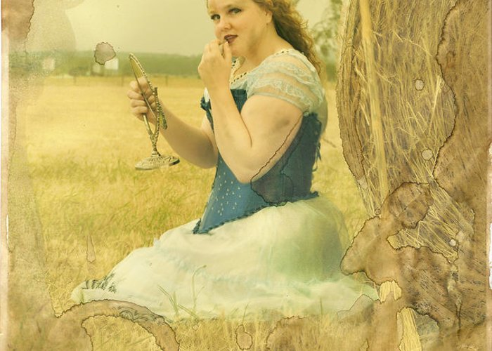 Strawberries Greeting Card featuring the photograph Cinderella Fairy Godmothers Don't Exsist by Eating Strawberries