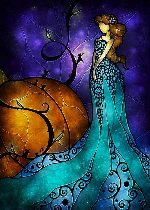 Cinerella Greeting Card featuring the painting Cinderella by Mandie Manzano