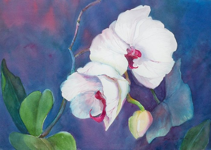 Orchid Painting Greeting Card featuring the painting Circle Of Life by Sue Kemp
