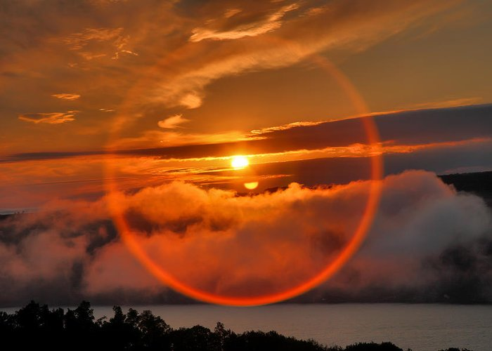 Lake Greeting Card featuring the photograph Circle Round The Sun by Steven Ainsworth