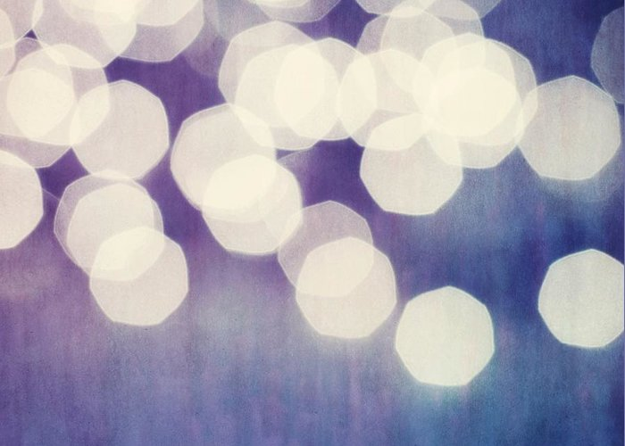 Abstract Greeting Card featuring the photograph Circles Of Light by Priska Wettstein