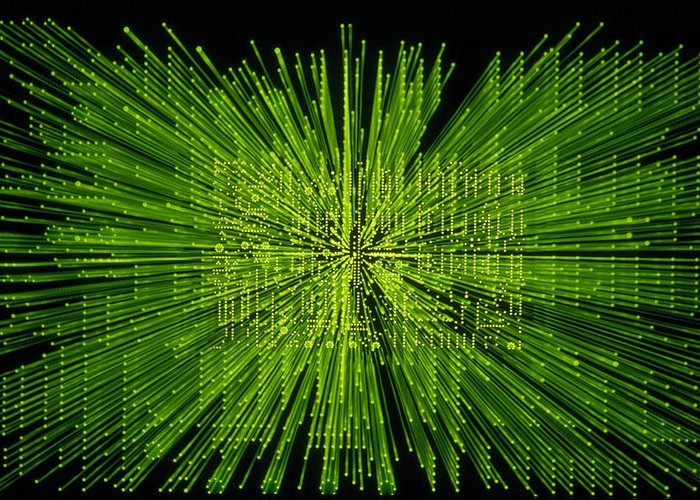 Green Greeting Card featuring the photograph Circuit Zoom by Jerry McElroy