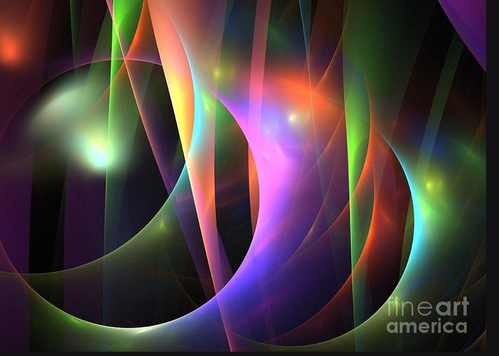 Apophysis Greeting Card featuring the digital art Circumference by Kim Sy Ok