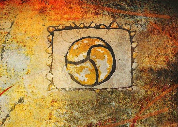 Circle Greeting Card featuring the digital art Circumvolve by Kandy Hurley