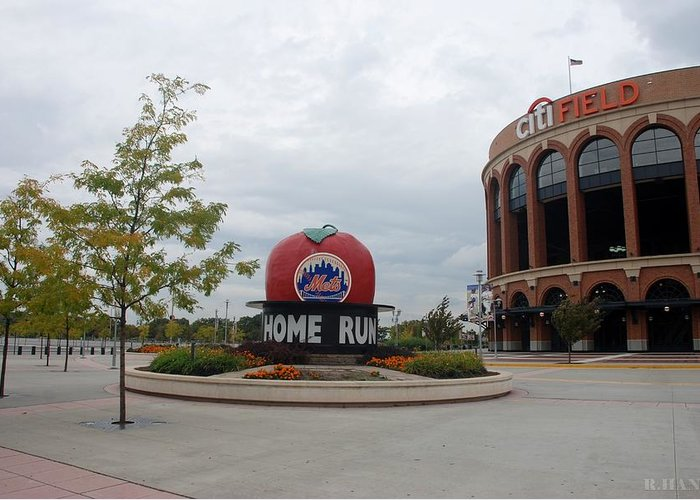 Shea Stadium Greeting Card featuring the photograph Citi Field by Rob Hans