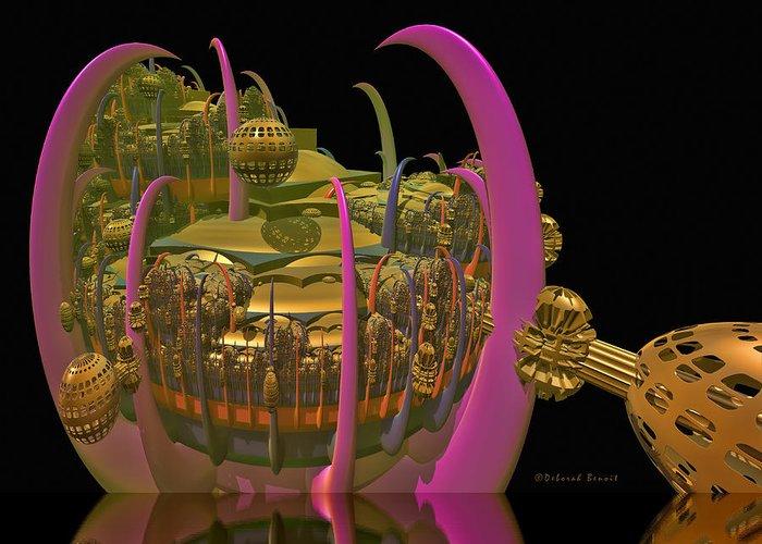 Digital Art Greeting Card featuring the digital art City 22 by Deborah Benoit