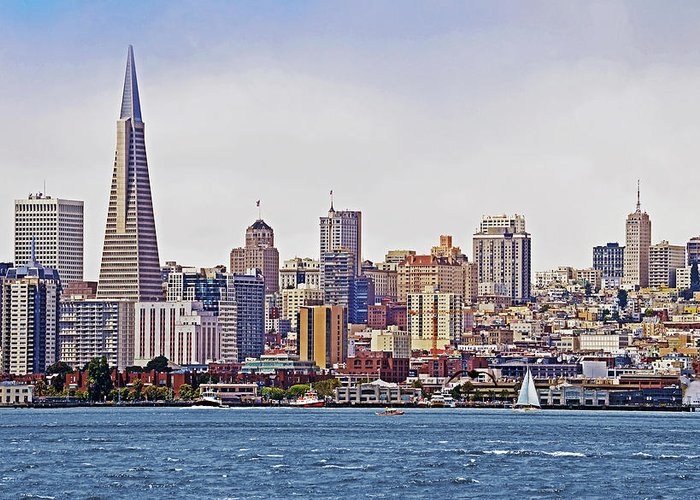 San Francisco Greeting Card featuring the photograph City By The Bay by Sindi June Short