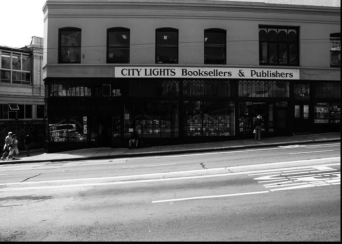 San Francisco Greeting Card featuring the photograph City Lights Booksellers by Aidan Moran