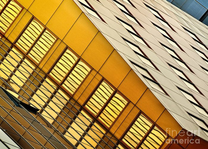 Architecture Greeting Card featuring the photograph City Lines by Claudia Kuhn