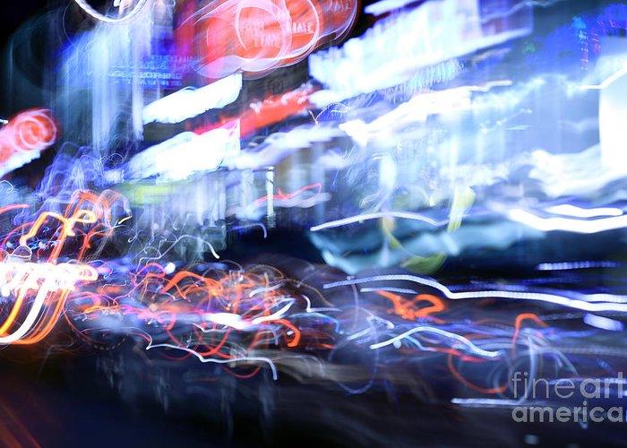 Abstract Greeting Card featuring the photograph City Motion 6092 by Igor Kislev
