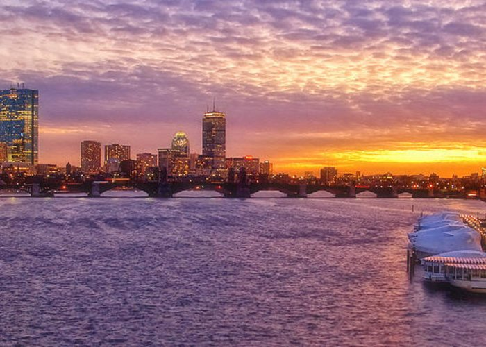 Boston Greeting Card featuring the photograph City Nights by Joann Vitali