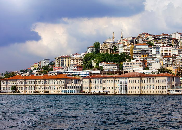 Mimar Greeting Card featuring the photograph City Of Istanbul Cityscape by Artur Bogacki