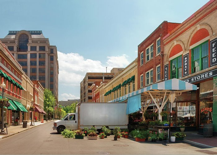 Savad Greeting Card featuring the photograph City - Roanoke Va - The City Market by Mike Savad