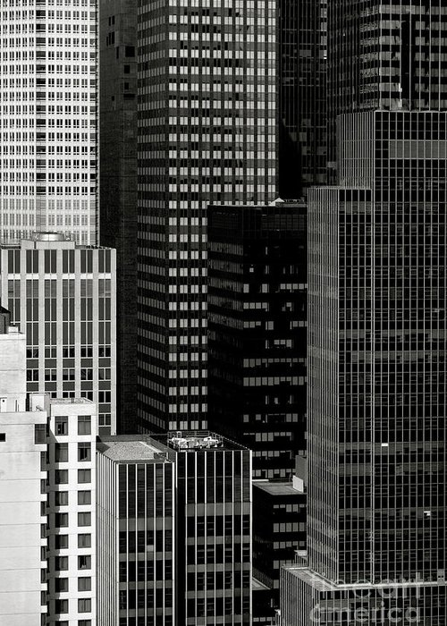 City Greeting Card featuring the photograph Cityscape In Black And White by Diane Diederich