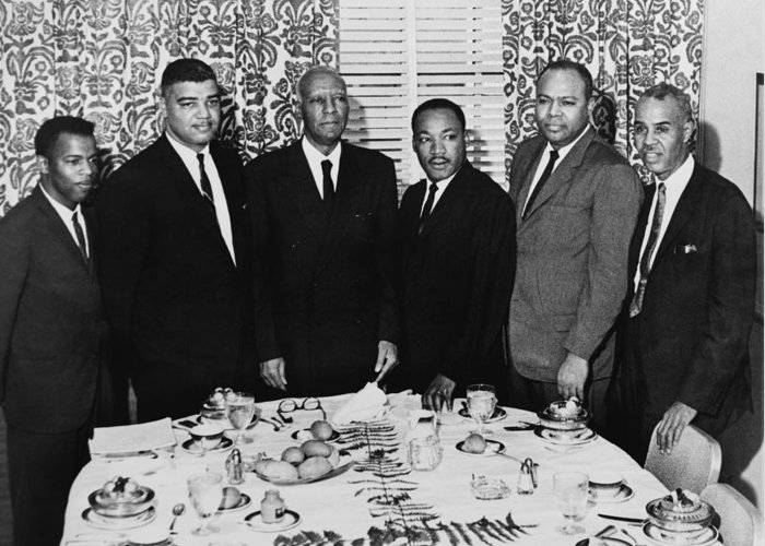 1963 Greeting Card featuring the photograph Civil Rights Leaders, 1963 by Granger