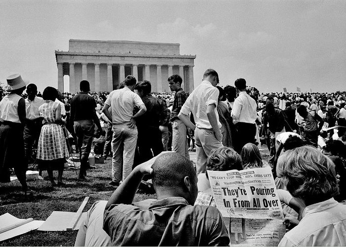 Occupy Greeting Card featuring the photograph Civil Rights Occupiers by Benjamin Yeager