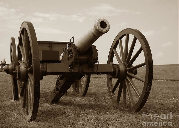 Cannon Greeting Card featuring the photograph Civil War Cannon by Olivier Le Queinec