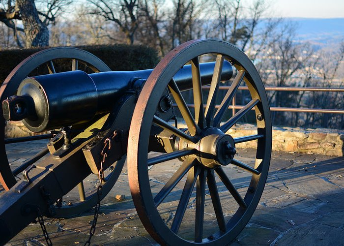 Cannon Greeting Card featuring the photograph Civil War Cannon by Dale Wilson