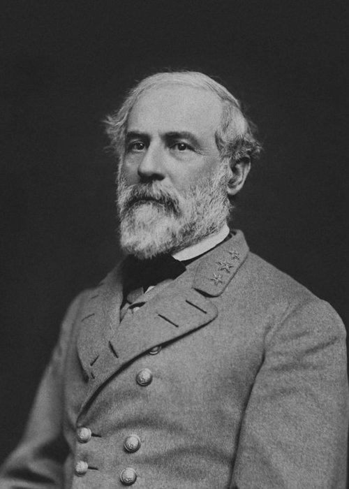 General Lee Greeting Card featuring the photograph Civil War General Robert E Lee by War Is Hell Store